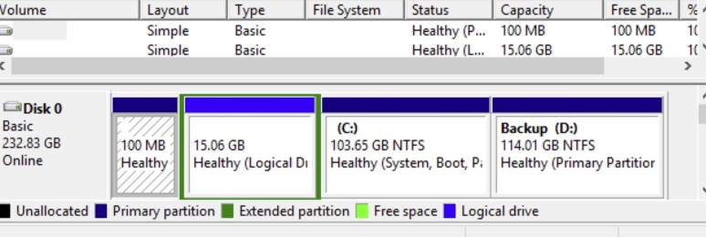 Delete the Recovery Partition